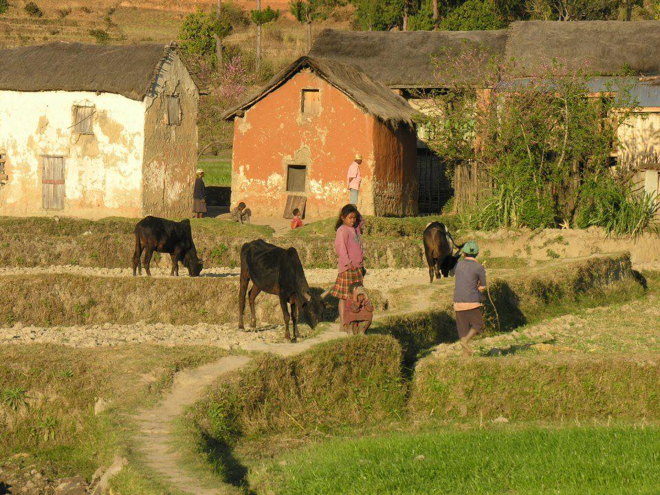 Vivre à Madagascar village