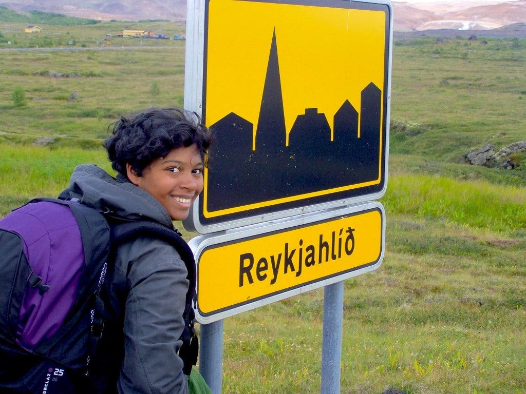 Reykjahlid Islande panneau