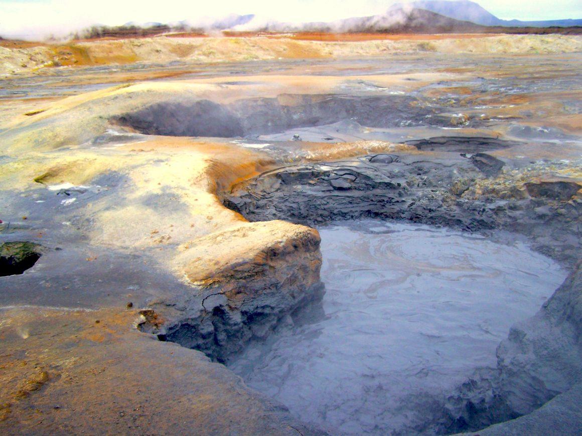Paysages en Islande : marre de boue Visiter lac Myvatn