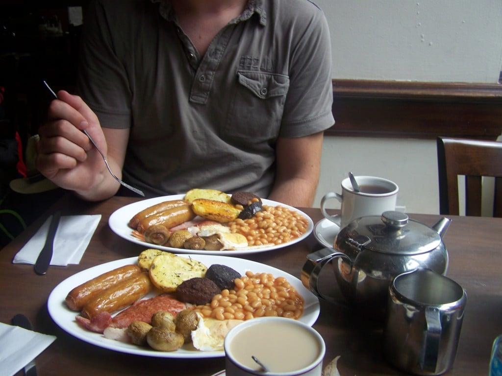 Petit déjeuner traditionnel Irlandais à Dublin