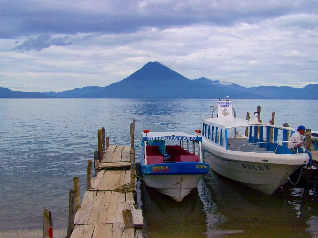 lac Atitlán bateau volcan guatemala