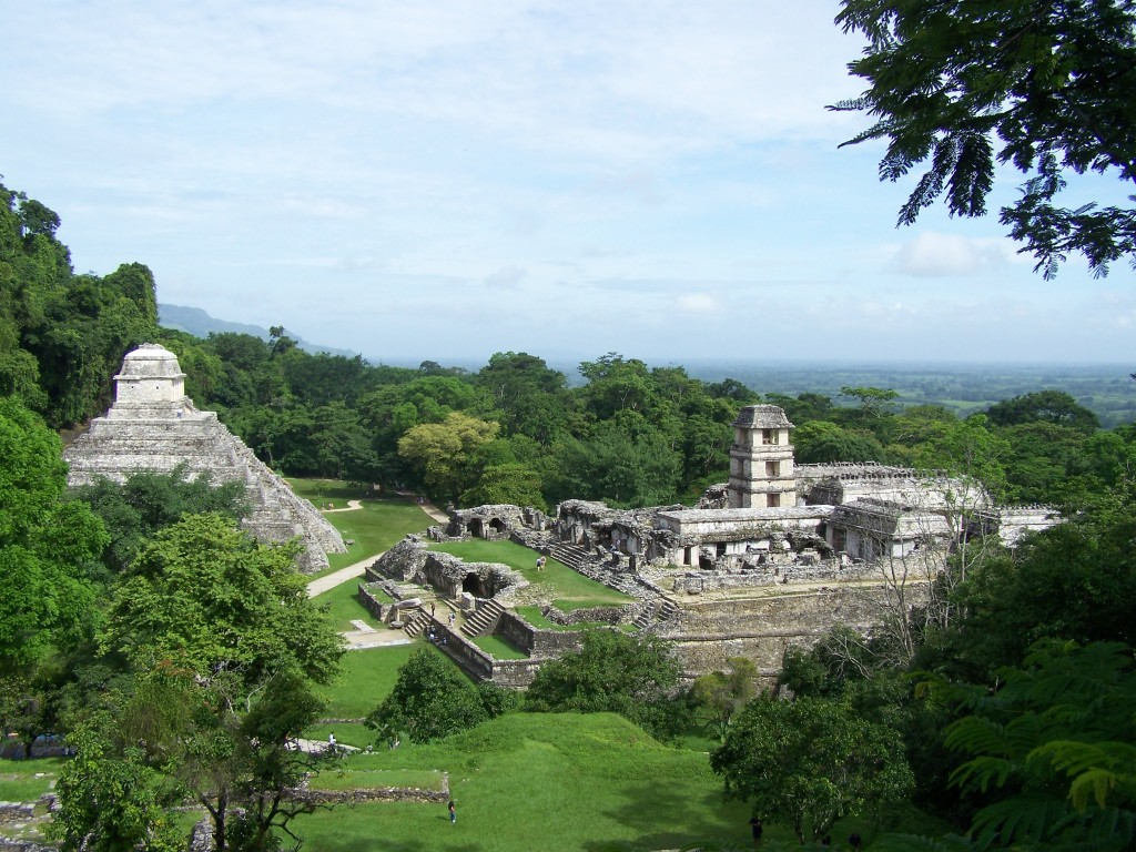 temple jungle Palenque mexique
