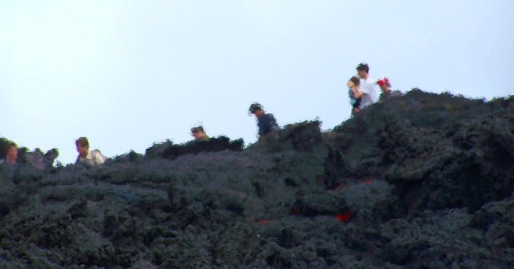 touristes volcan Antigua guatemala