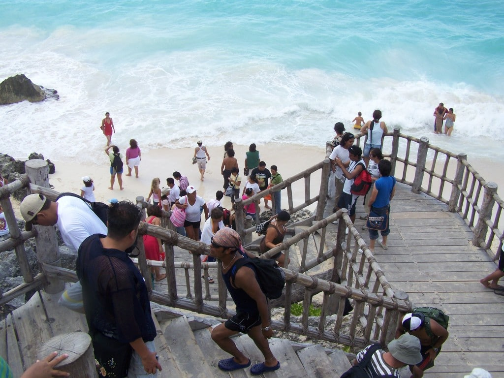 touristes tulum mexique