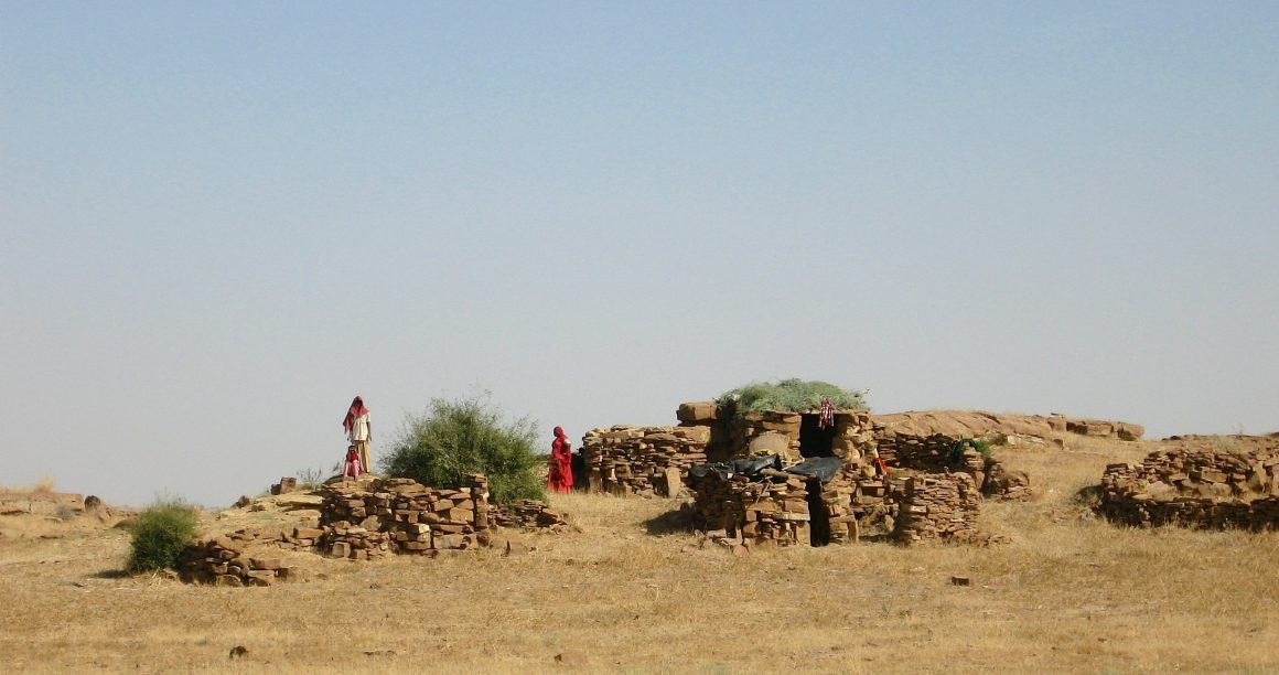 village désert du Thar Jaisalmer Rajasthan