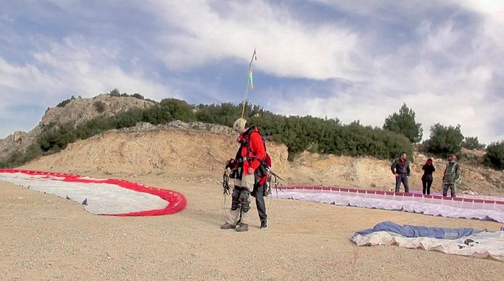 préparation saut en parapente Pamukkale