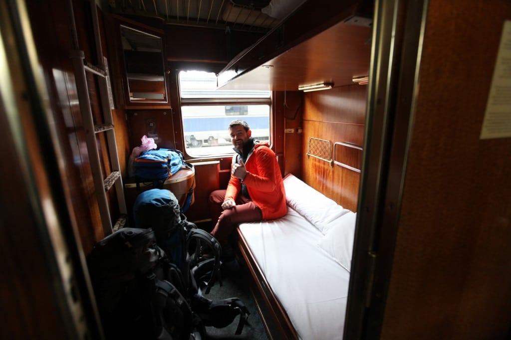 Tour du monde sans avion : traverser l'Europe en train, l'Intérieur du train entre Budapest et Bucarest