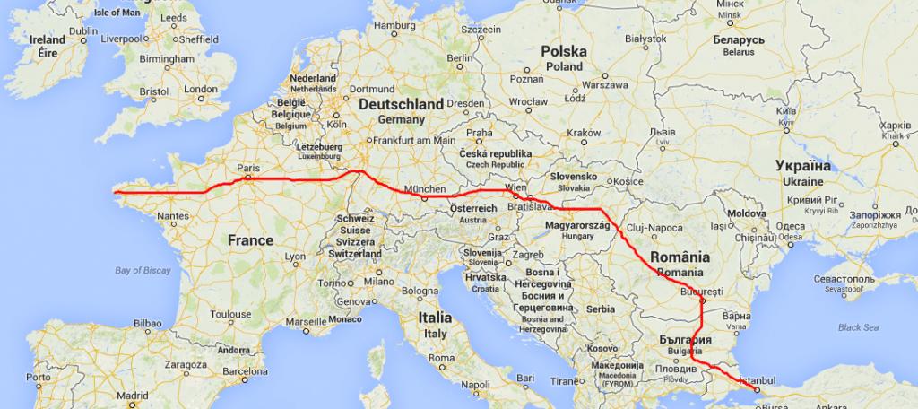 aller de Paris à Istanbul sans prendre l'avion
