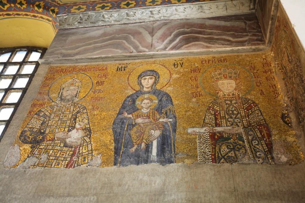 Istanbul : la basilique sainte sophie a gardé des représentation saintes chrétiennes