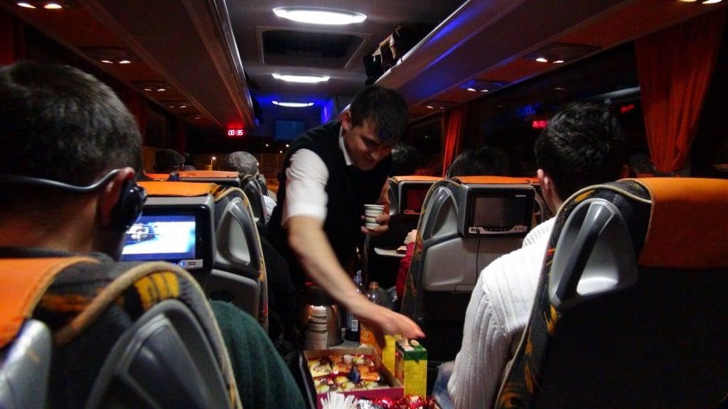 En partance d'Istanbul, les bus en Turquie sont très bien aménagés