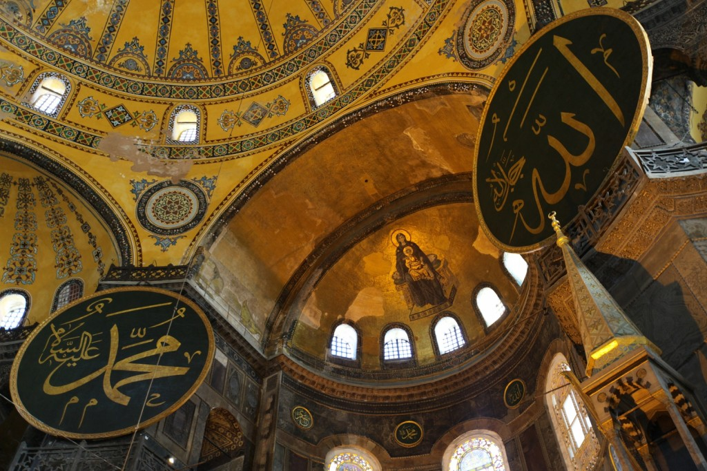 coupole de la basilique Sainte Sophie à Istanbul