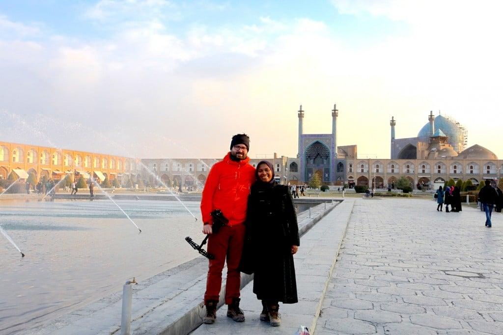 Persepolis - Isfahan : Sur la place Naghsh-e Jahan à Isfahan devant la Mosquée du Chah