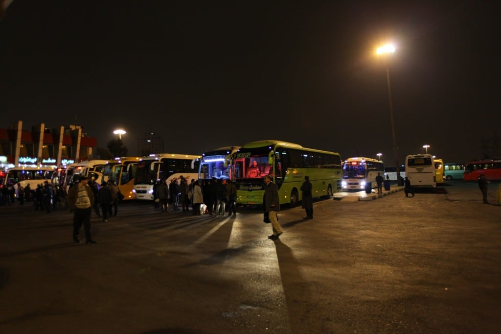 Bus depuis Teheran pour aller à Isfahan et Persepolis