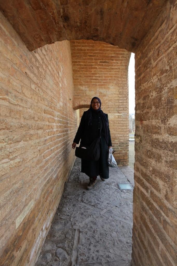 visite du pont principal d'Isfahan juste avant le départ pour Persepolis