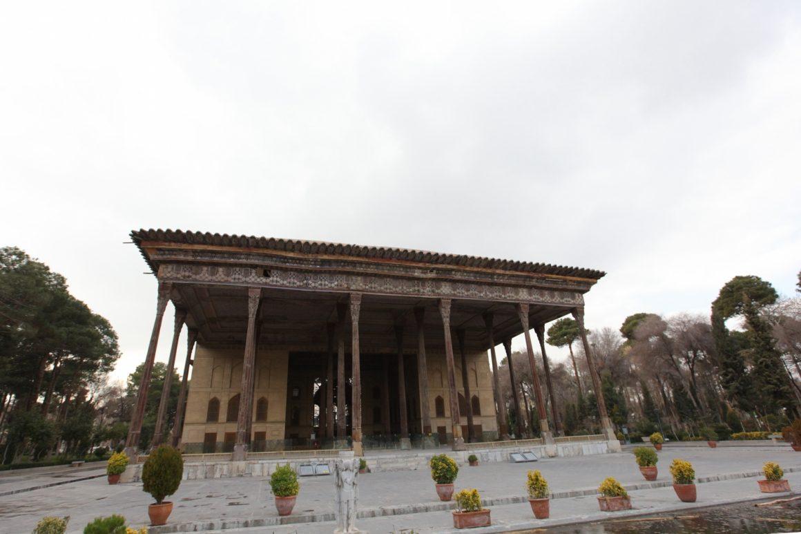 Visiter Ispahan palais de Chehel Sotoun