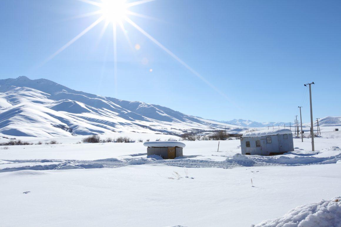 paysage hiver Kazakhstan