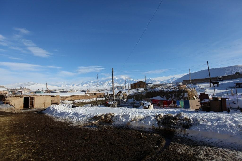 village de Sary-tash frontière Chine Kirghizistan