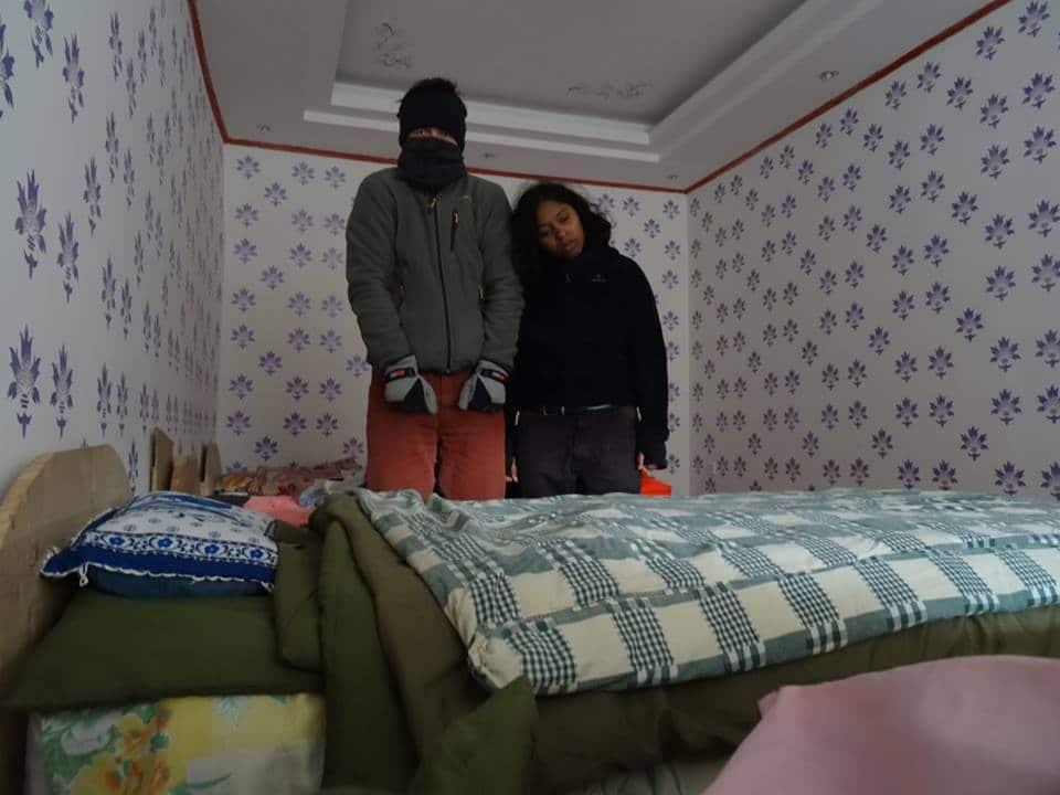 froid hiver montagnes Tibet Sichuan Sonpgan trek cheval