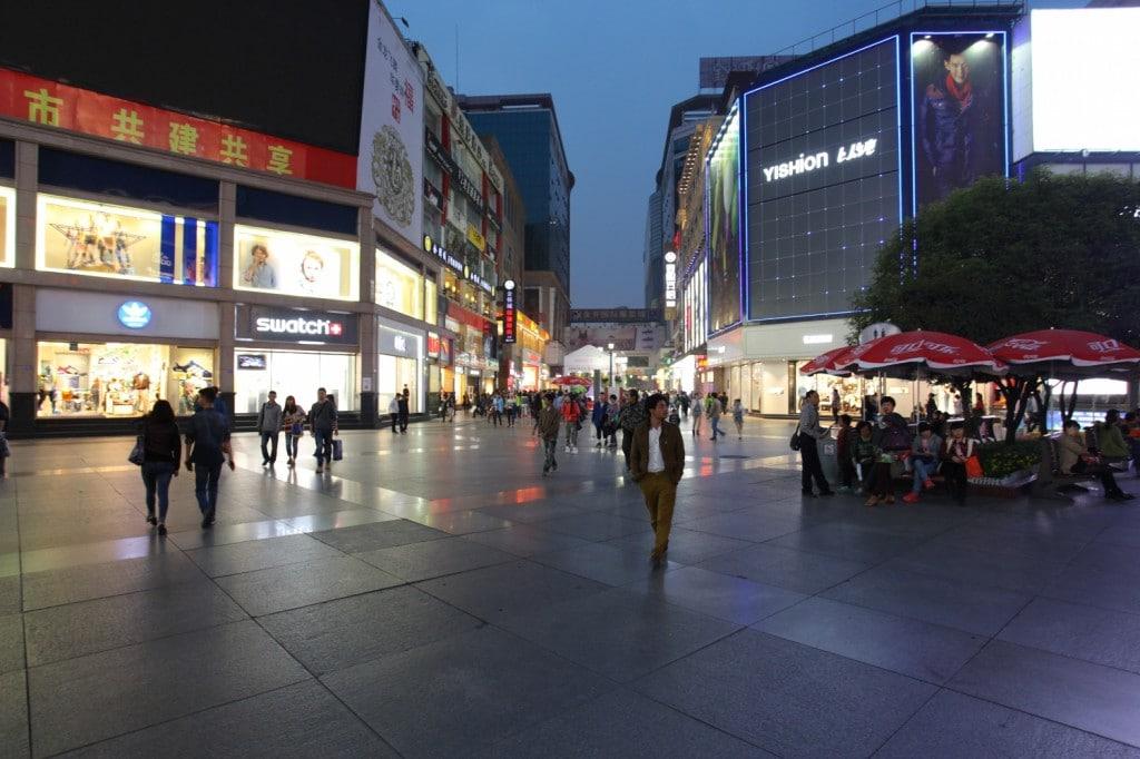 centre ville Chengdu Sichuan