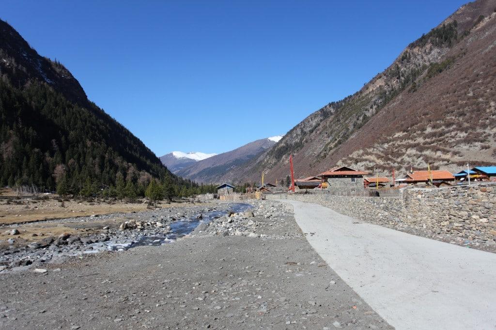 route Songpan montagnes Sichuan