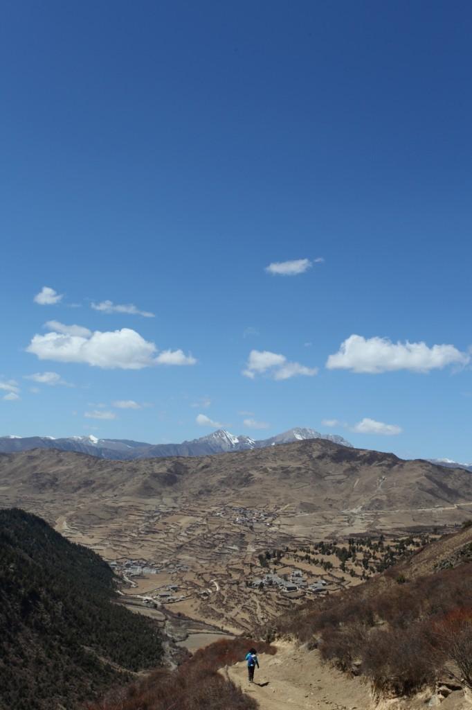 paysages Tibet Montagnes Sonpgan