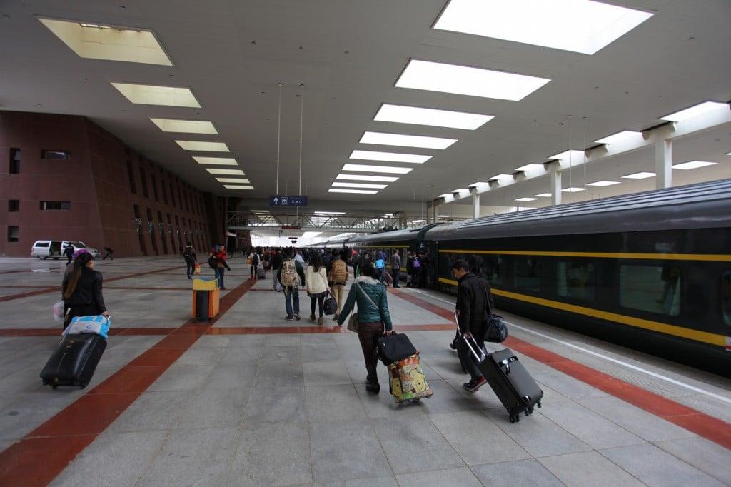 Tibet : gare de Lhassa