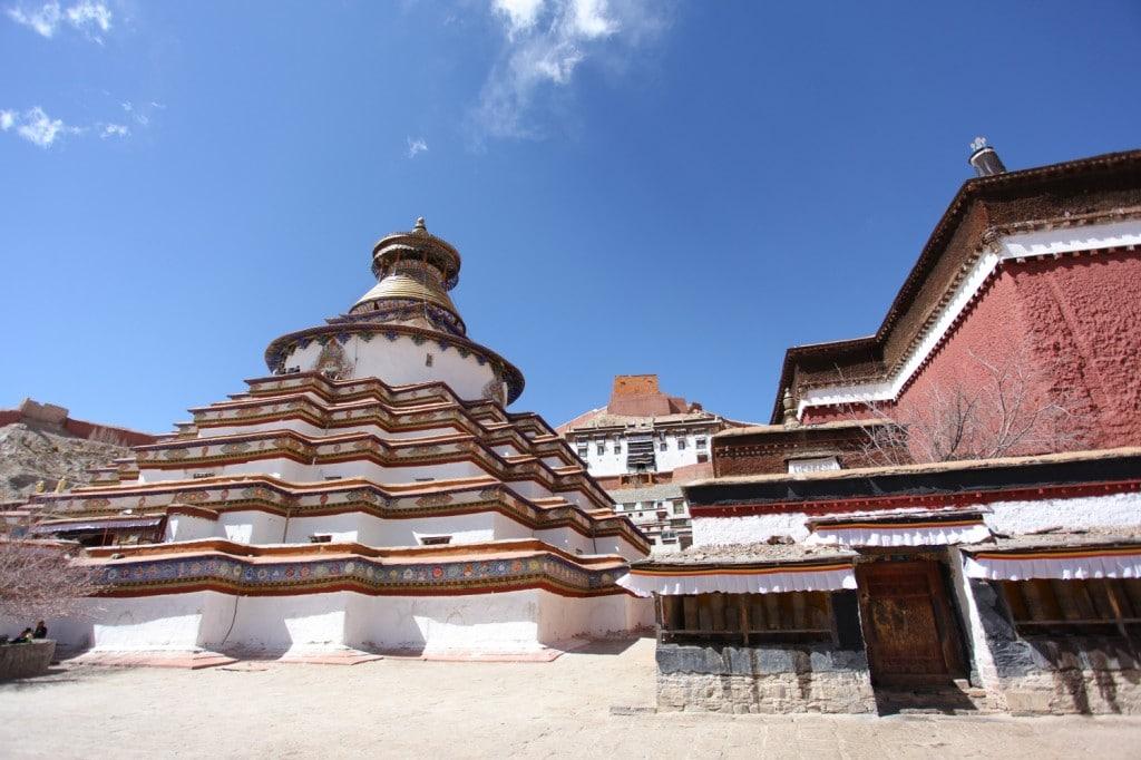 Gyantse la plus grande stuppa du Tibet