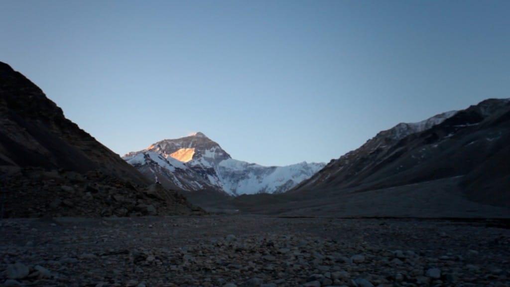 everest levé su soleil Tibet