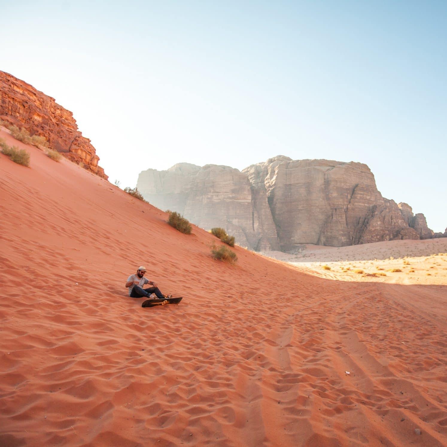 surf dune desert jordanie