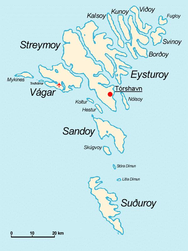 Visiter les îles féroé carte