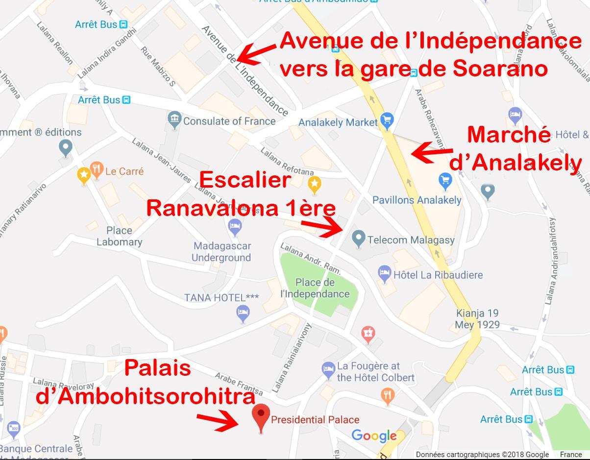 carte visiter antananarivo
