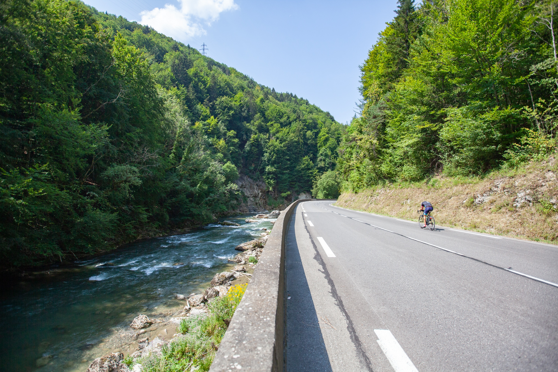 La route des Grande Alpes à vélo