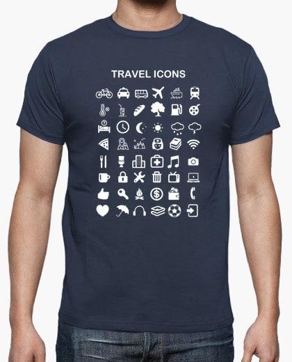 t-shirt icones voyage