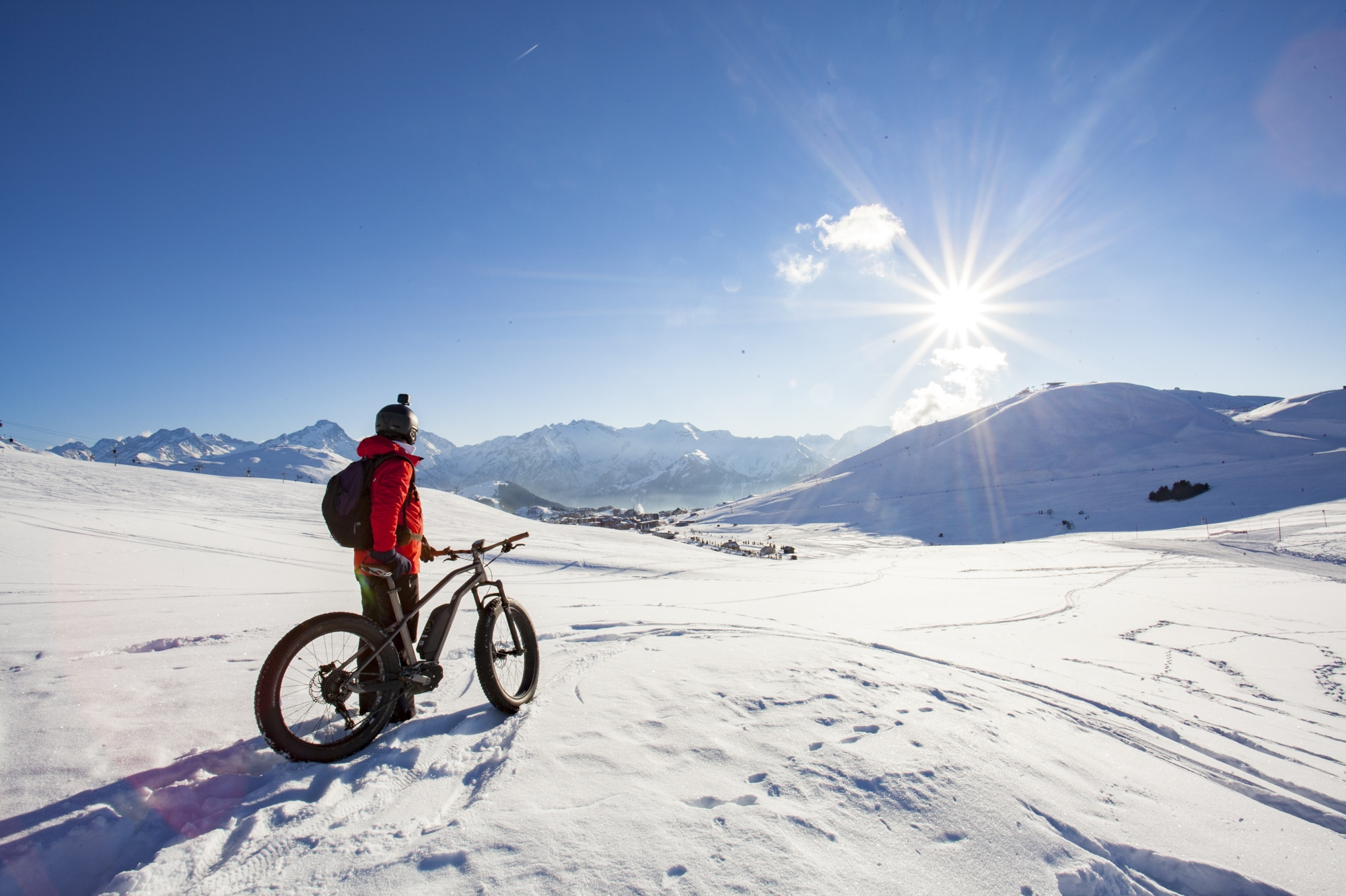 fatbike neige activité montagne l'hiver