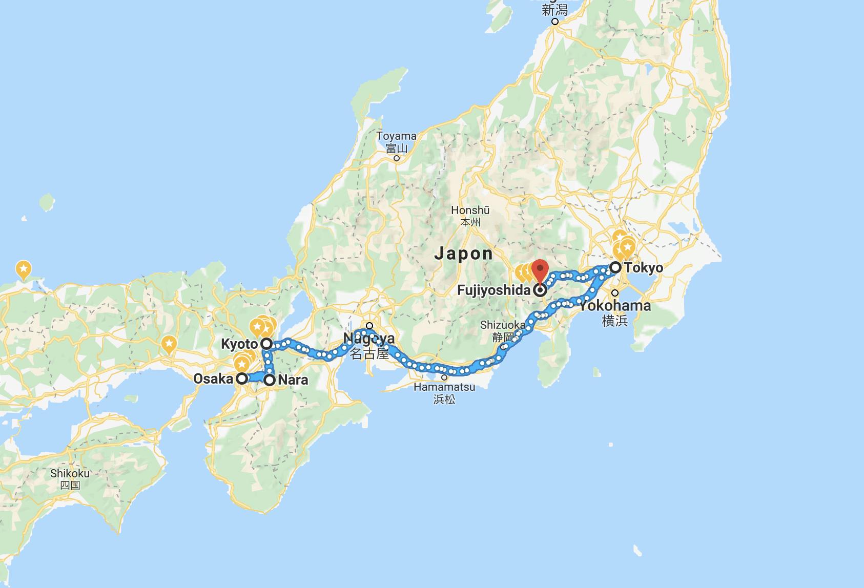 Japon itinéraire voyage